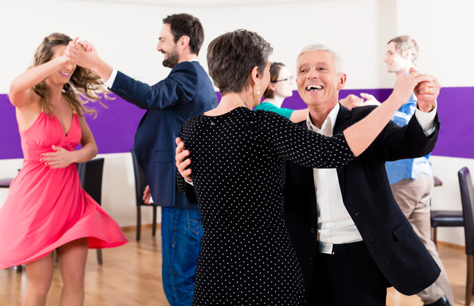 A photo of a dance class