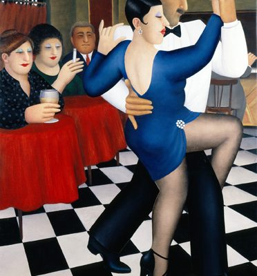 Painting of Tango in Bar Sur by Beryl Cook