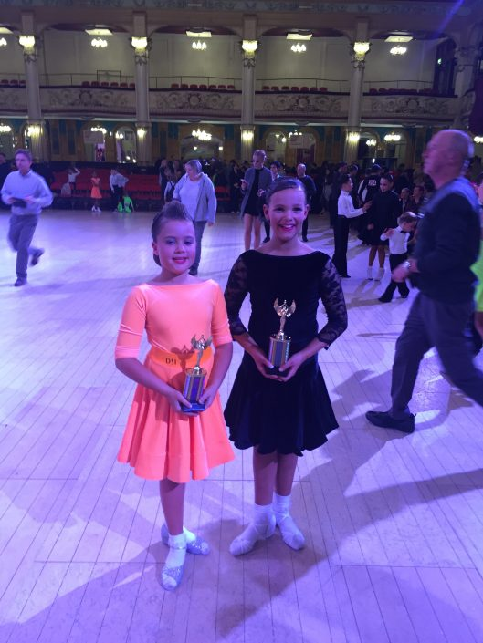 Eve & Ella Winners of the under 12 couples